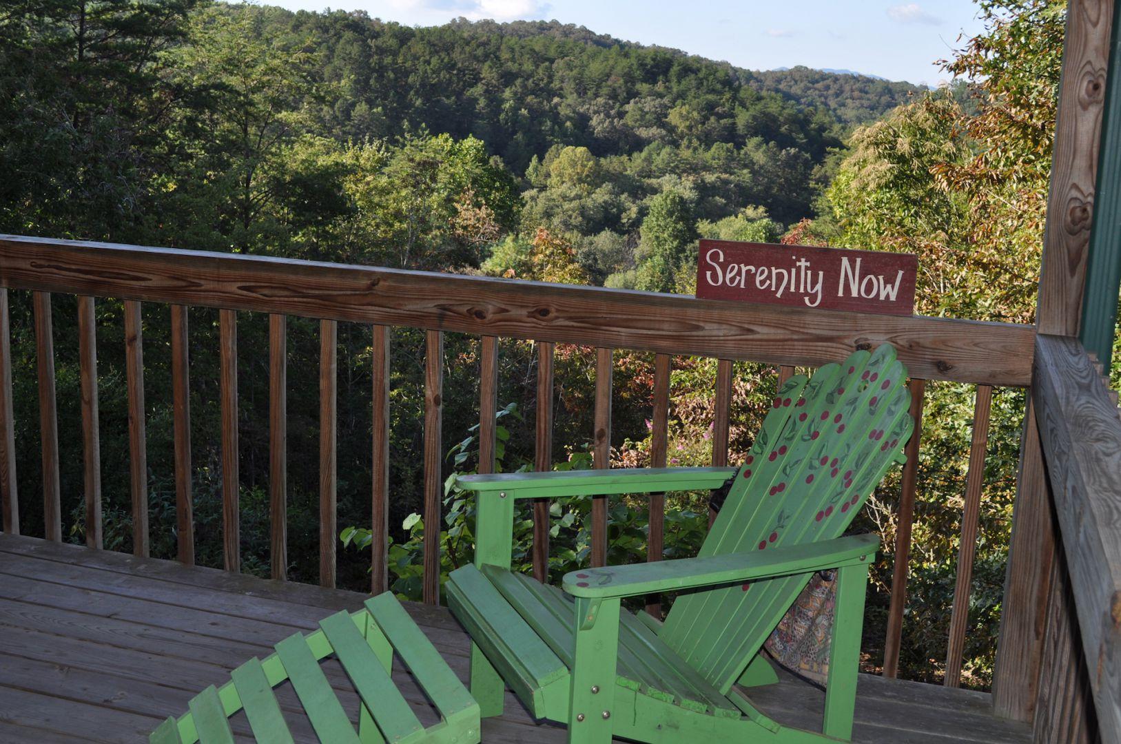 Serenity Now Cabin Rental